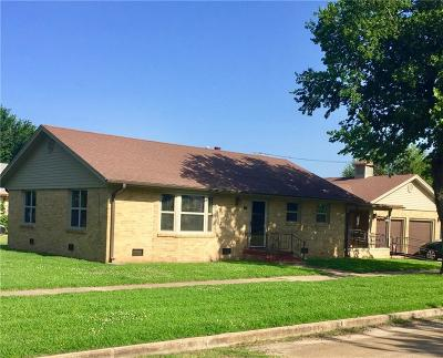 Stroud OK Single Family Home For Sale: $115,000