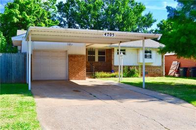 Del City Single Family Home For Sale: 4705 SE 19th Street