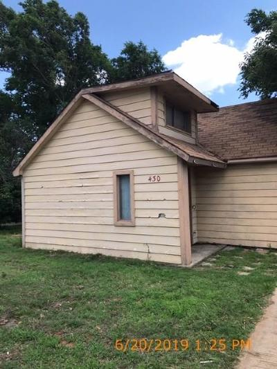 Weatherford Single Family Home For Sale: 430 N 4th Street