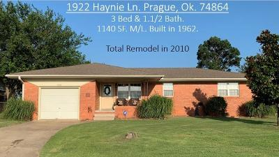 Prague Single Family Home For Sale: 1922 Haynie Lane