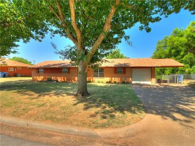 Chickasha Single Family Home For Sale: 1818 S 21st Street