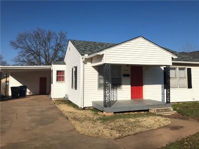 Chickasha Single Family Home For Sale: 1524 W Iowa Avenue