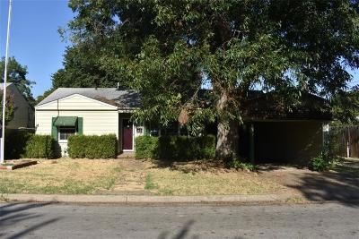 Chickasha Single Family Home For Sale: 1216 S 12th Street
