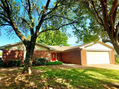 Chickasha Single Family Home For Sale: 3806 Hickory Stick Drive