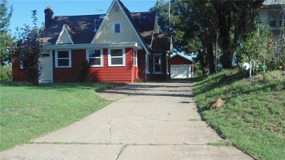 Guthrie Single Family Home For Sale: 1706 E Oklahoma Avenue