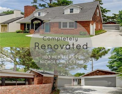 Nichols Hills Single Family Home For Sale: 1103 Hemstead Place