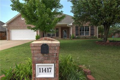 Midwest City Single Family Home For Sale: 11417 Leslie Beachler Lane