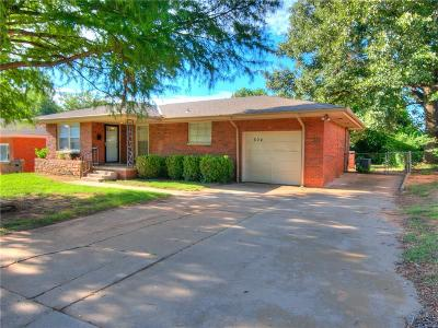 Midwest City Single Family Home For Sale: 604 E Frolich