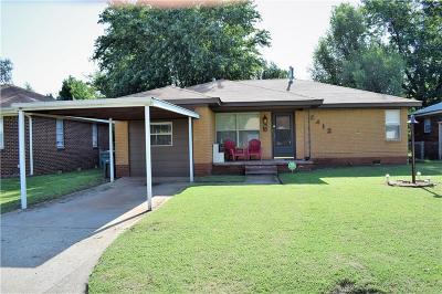Del City Single Family Home For Sale: 2412 Becker Street