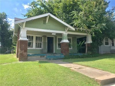 Oklahoma City OK Single Family Home For Sale: $49,000