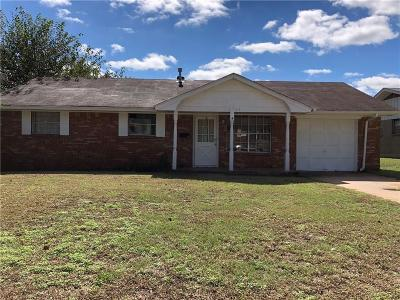 Del City Single Family Home For Sale: 3304 Cheek Place