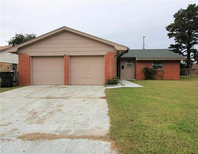 Midwest City Single Family Home For Sale: 637 Lotus Avenue