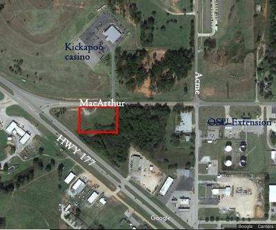 Shawnee Residential Lots & Land For Sale: Hwy177/Macarthur SE Corner