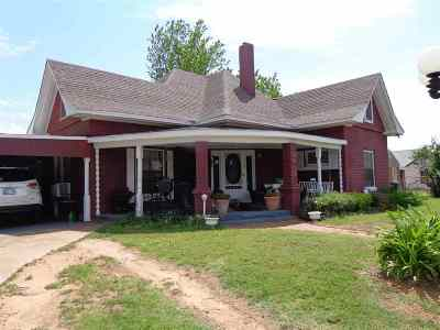 Rush Springs OK Single Family Home For Sale: $84,000