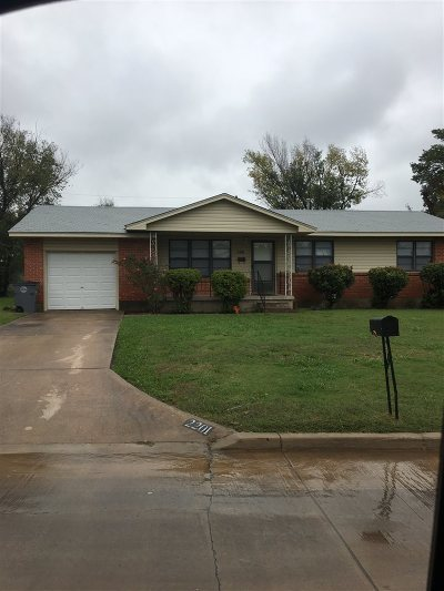 Lawton OK Single Family Home Under Contract: $54,000