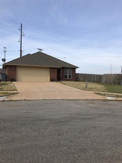 Lawton Single Family Home For Sale: 513 SW Coral