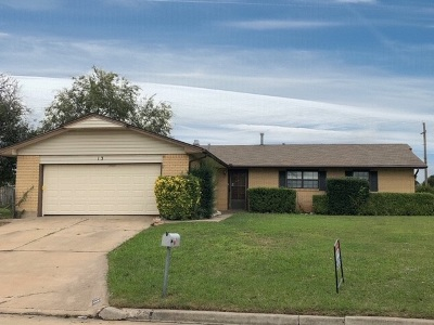 Lawton Single Family Home Under Contract: 13 NW 55th St