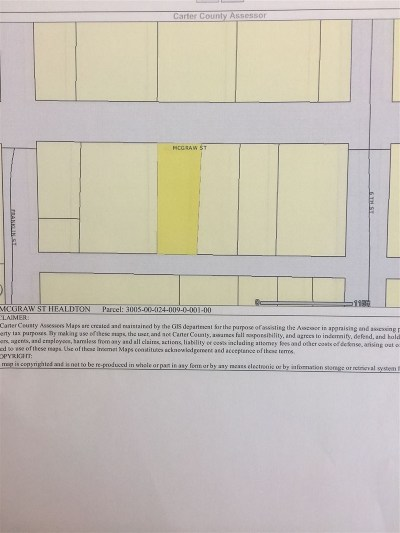 Healdton Residential Lots & Land For Sale: Blk 24 Lts 9&10 McGraw