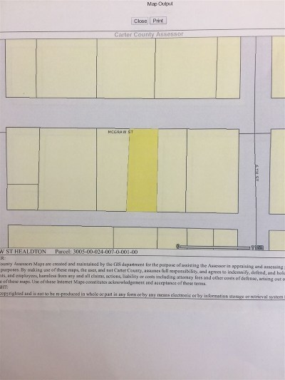 Healdton Residential Lots & Land For Sale: Blk 24 Lts 7&8 McGraw