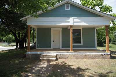Ardmore OK Single Family Home For Sale: $59,000