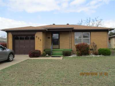 Ardmore OK Single Family Home For Sale: $84,900