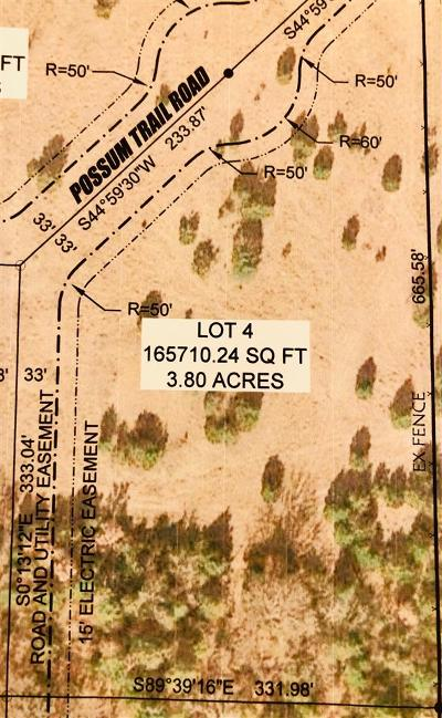 Ardmore Residential Lots & Land For Sale: 0 Lot 4 Possum Trail Road