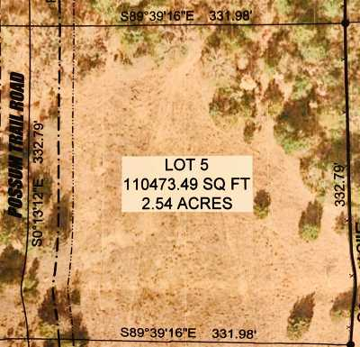 Ardmore Residential Lots & Land For Sale: 0 Lot 5 Possum Trail Road