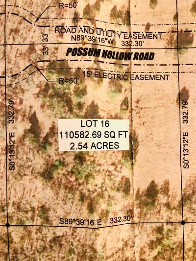 Ardmore Residential Lots & Land For Sale: 0 Lot 16 Possum Trail Road
