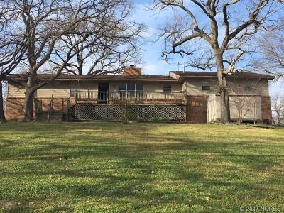 Fort Gibson OK Single Family Home For Sale: $119,900