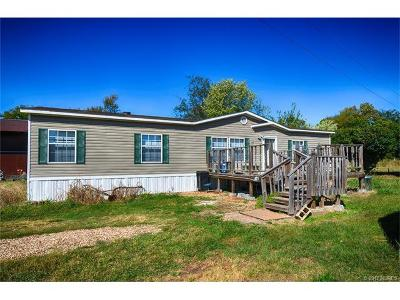 Cookson OK Manufactured Home For Sale: $115,000