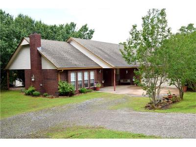 Fort Gibson OK Single Family Home For Sale: $144,000