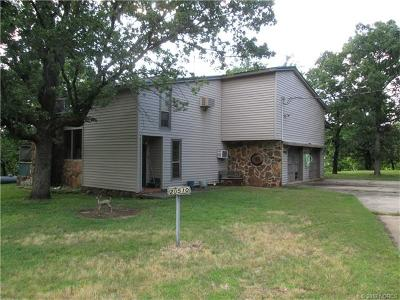 Hulbert OK Single Family Home For Sale: $135,000