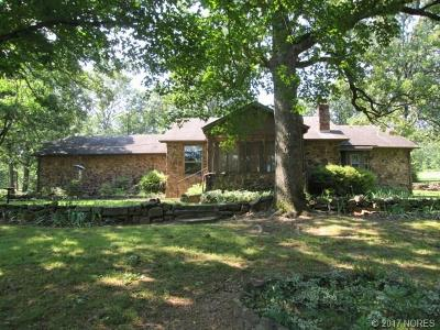 Fort Gibson OK Single Family Home For Sale: $135,000