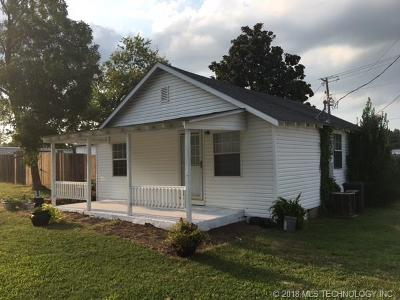 Tahlequah OK Single Family Home For Sale: $79,000