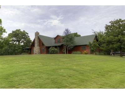Claremore Single Family Home For Sale: 24505 S Crystal Lake Drive