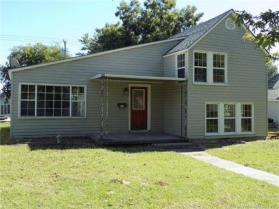 Holdenville OK Single Family Home For Sale: $74,500
