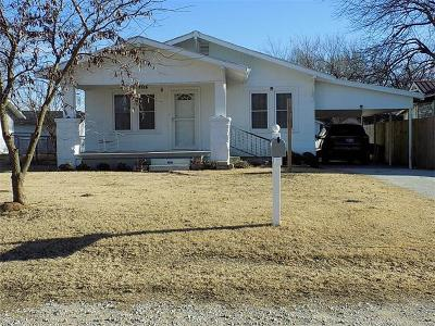 Holdenville OK Single Family Home For Sale: $69,000
