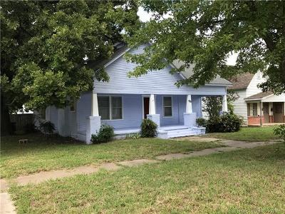 Ada OK Single Family Home For Sale: $75,000