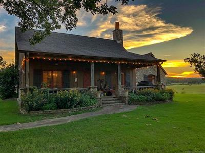 Tulsa County, Creek County, Osage County, Rogers County, Okmulgee County, Wagoner County Single Family Home For Sale: 4450 N 110 Road
