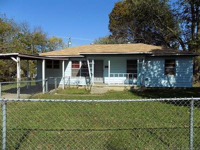 Holdenville OK Single Family Home For Sale: $55,000