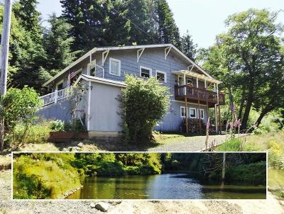 Waldport Single Family Home For Sale: 3450 E Alsea Hwy