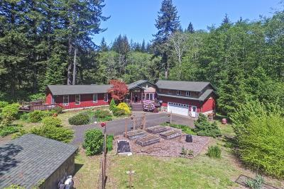 Single Family Home For Sale: 8098 Yachats River Rd