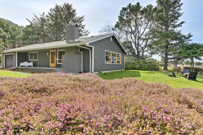 Depoe Bay, Gleneden Beach, Lincoln City, Newport, Otter Rock, Seal Rock, South Beach, Tidewater, Toledo, Waldport, Yachats Single Family Home For Sale: 198 Yachats Ocean Rd