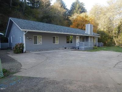 Depoe Bay, Gleneden Beach, Lincoln City, Newport, Otter Rock, Seal Rock, South Beach, Tidewater, Toledo, Waldport, Yachats Single Family Home For Sale: 2545 NE Big Creek Rd