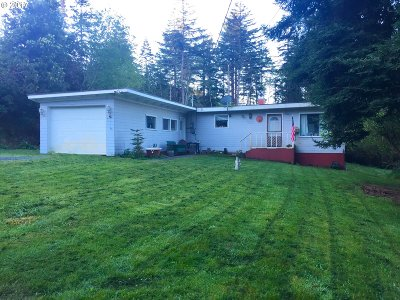 Port Orford Single Family Home For Sale: 92908 Averill Hill Rd