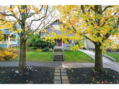 Multnomah County Single Family Home For Sale: 3334 NE 30th Ave