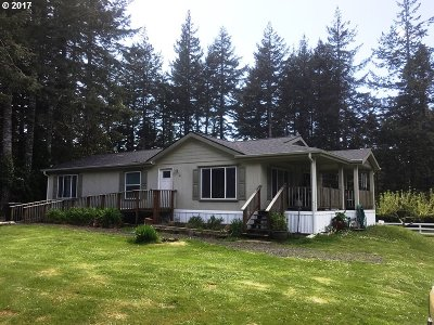 Bandon Single Family Home For Sale: 56050 Tom Smith Rd