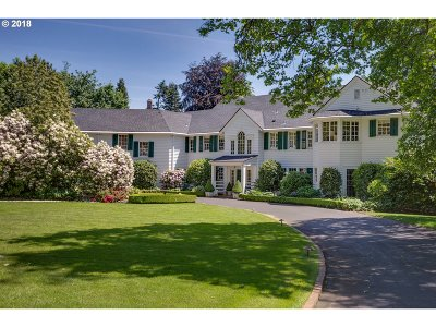 , Portland, West Linn, Lake Oswego Single Family Home For Sale: 1600 SW Greenwood Rd