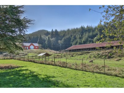 Coquille Single Family Home For Sale: 93694 Hwy 42 S