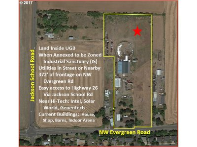 Hillsboro Commercial For Sale: 28475 NW Evergreen Rd